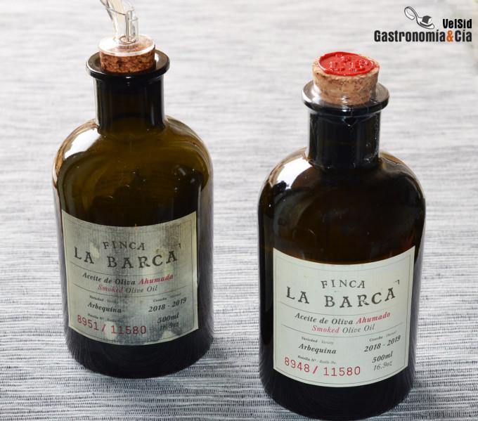 Aceite de oliva ahumado