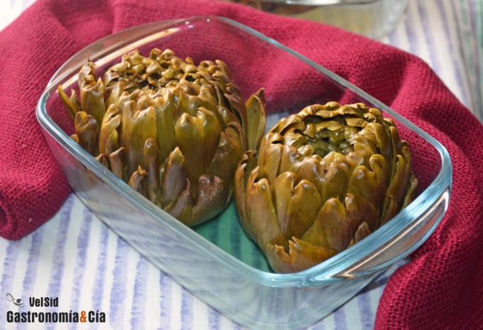 Cómo hacer alcachofas en el microondas