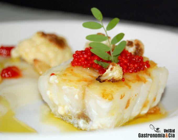Bacalao con cremoso de coliflor