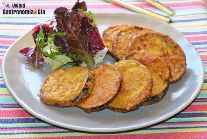 Berenjenas rebozadas con yuzu, cúrcuma y pimienta