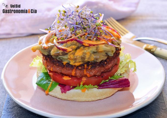 Hamburguesa Beyond Burger (vegana) con berenjena ahumad