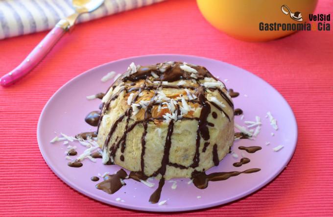 Bowl cake de piña y plátano