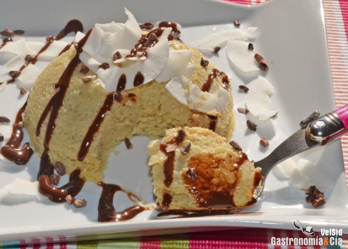 Bowlcake de plátano y coco