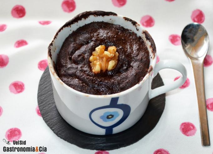 Brownie de berenjena en 5 minutos