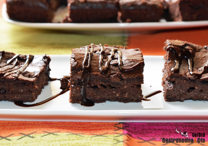 Brownie de chocolate y almendra