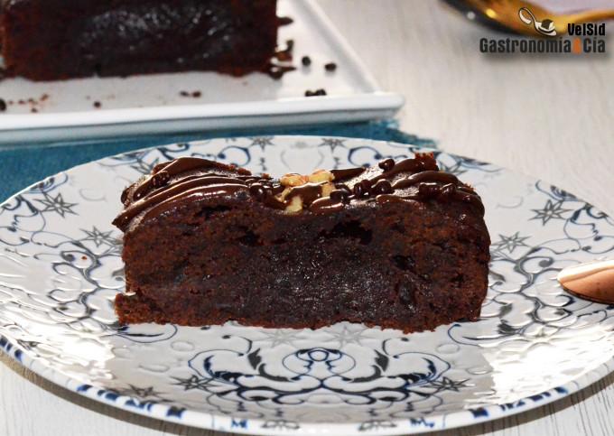 Brownie de chocolate y manteca de avellanas