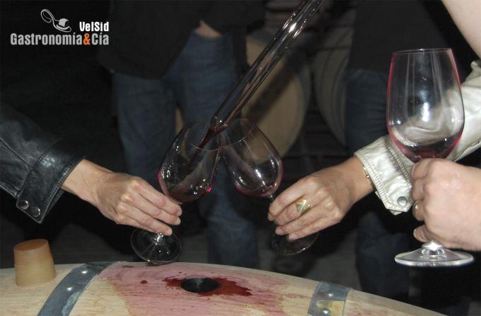 Cata de vino en rama