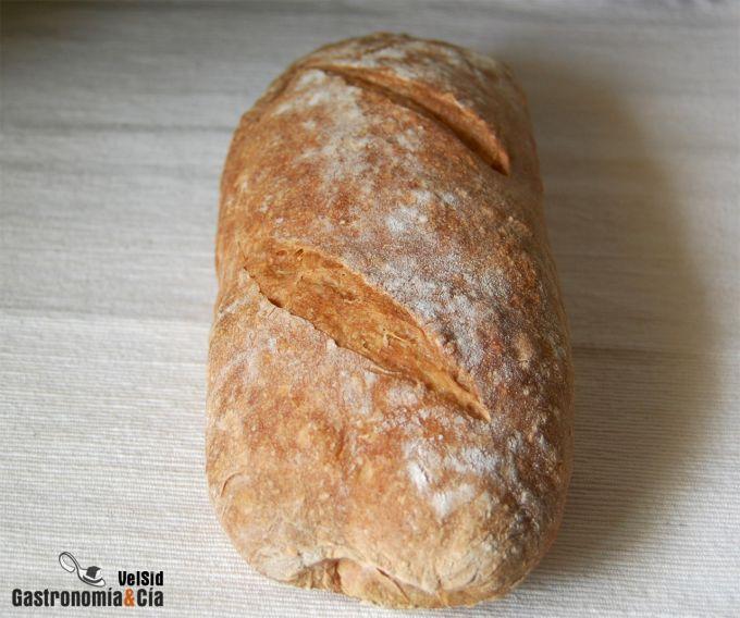 Pan de chapata con harina preparada Lidl