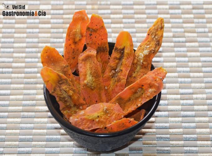 Chips de zanahoria a la pimienta