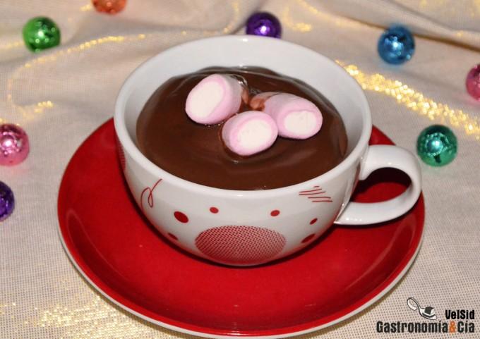 Chocolate a la taza fácil y rápido de hacer