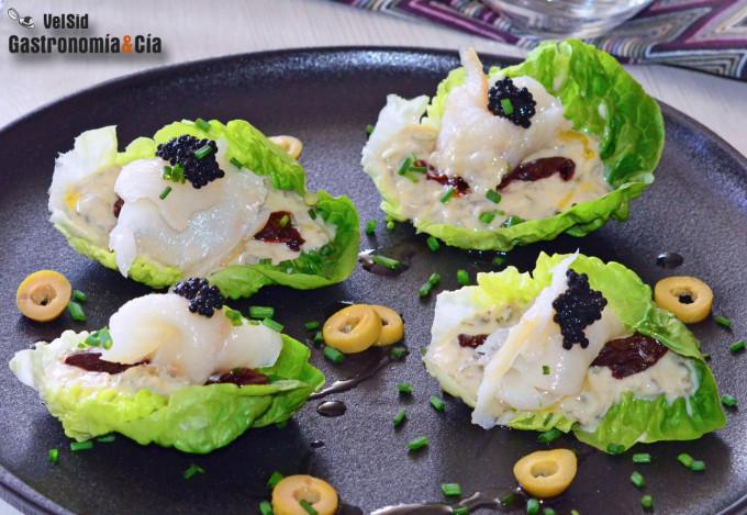 Cogollos con bacalao ahumado y nuestra salsa tártara li