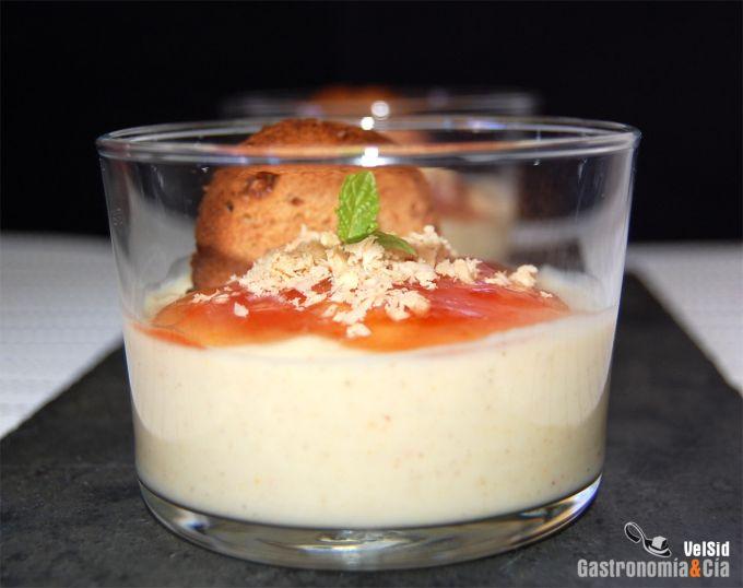 Crema de coliflor con mermelada de tomate y foie