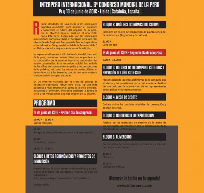 programa de Interpera Internacional 2012