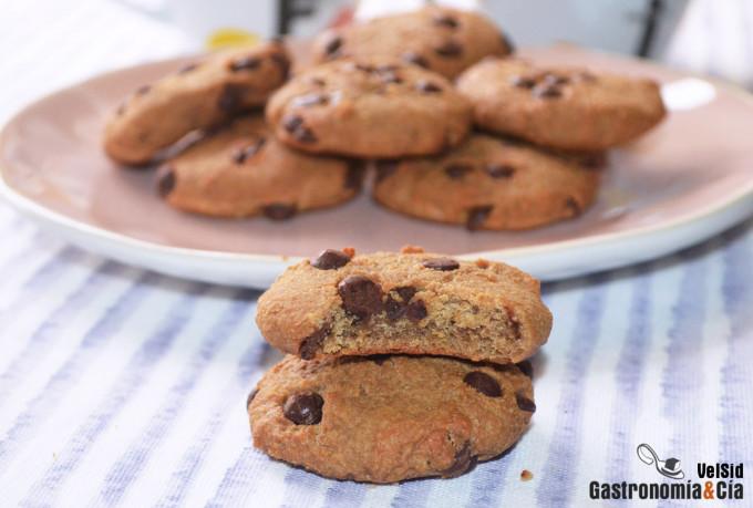 Cookies de cacahuete y chocolate