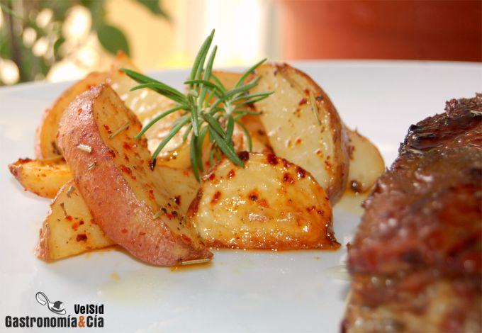 Costillas de cerdo al jengibre con patatas nuevas