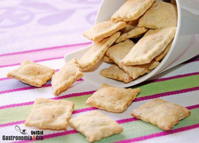 Crackers con sésamo y linaza