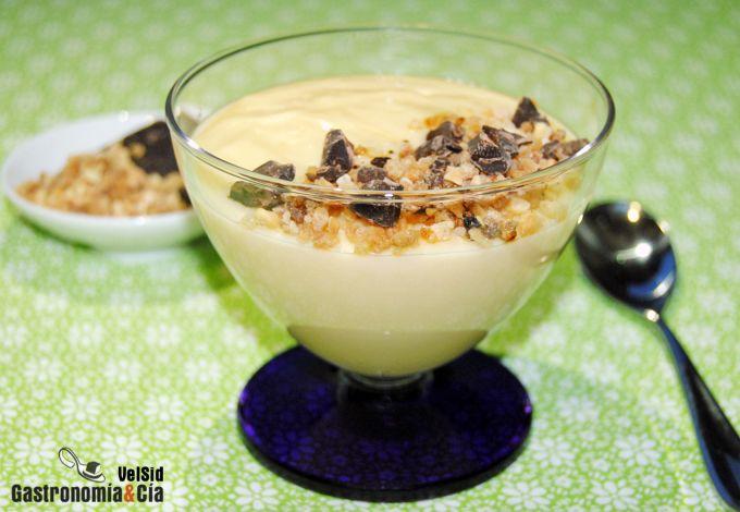 Crema de leche de almendras y Amaretto