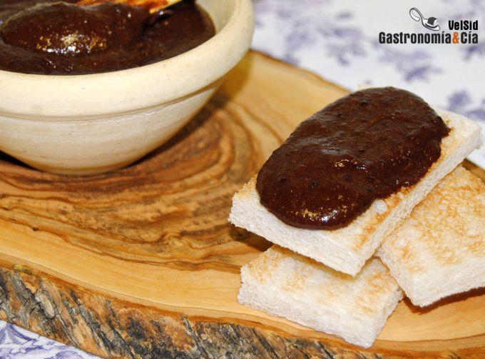 Crema de chocolate y nueces para untar