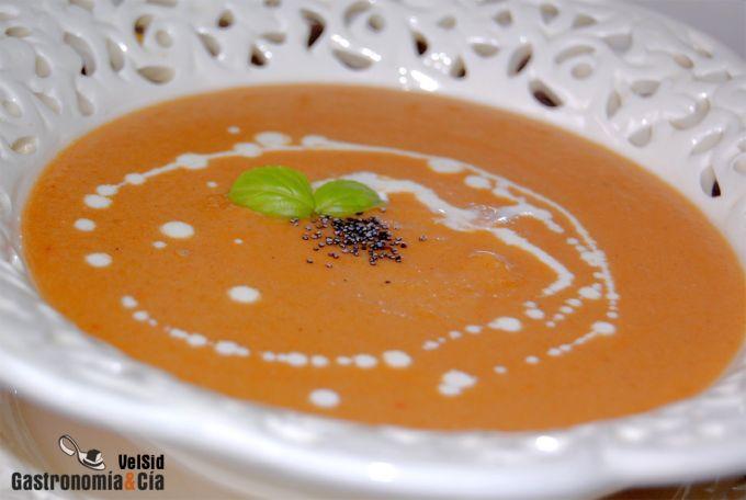 Crema de lentejas rojas al curry