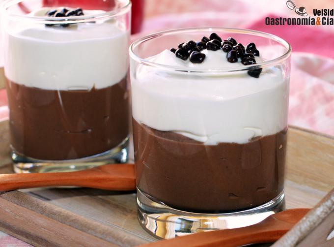 Crema de chocolate y yogur