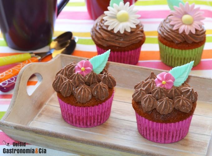 Cupcakes de turrón y chocolate