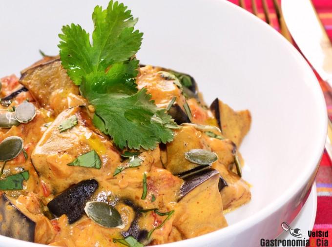 Receta de curry de berenjenas