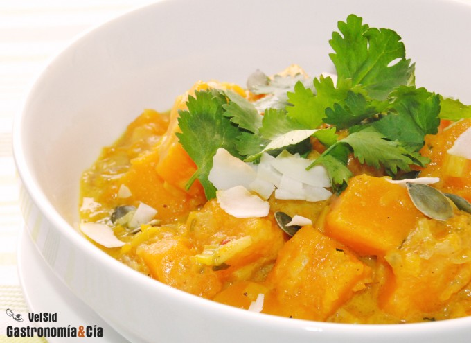 Receta de Curry de calabaza