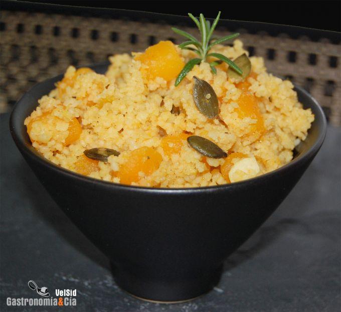 Cuscús con calabaza al curry