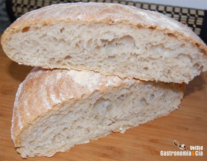 Pan en cesta de fermentación