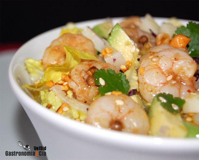 Ensalada Con Aguacate Y Gambas Picantes Gastronomia Cia
