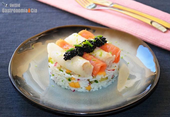 Salade de riz fumé