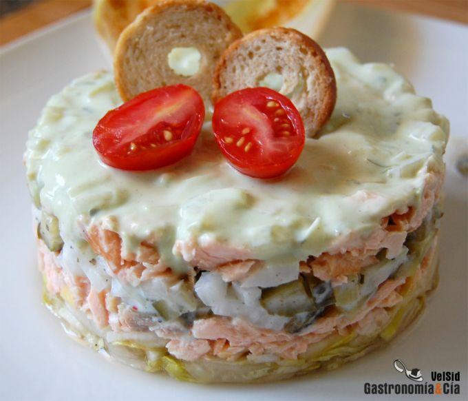 Ensalada de salmón y endivias