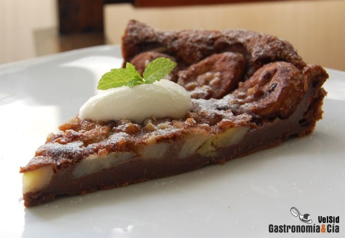 Flognarde de chocolate y plátano
