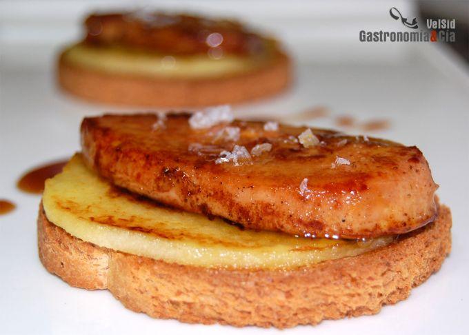 Cocinar Foie | Receta De Foie Micuit Con Manzana Caliente Gastronomia Cia