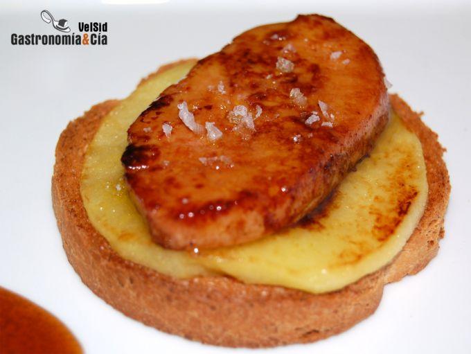Foie Micuit con manzana caliente