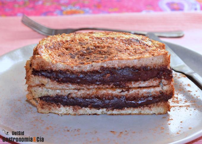 French toast de 'peanutella'