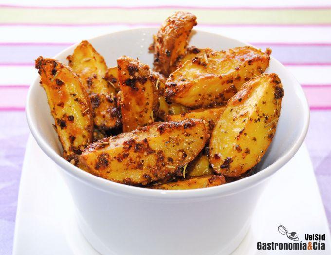 Patatas asadas con piel