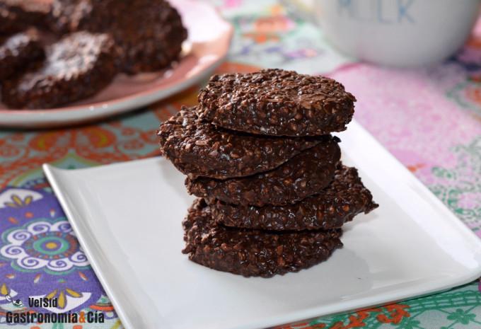 Galletas de avena, quinoa, chocolate y cacahuete
