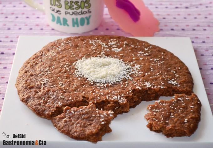 Galleta de Nutella y coco en microondas