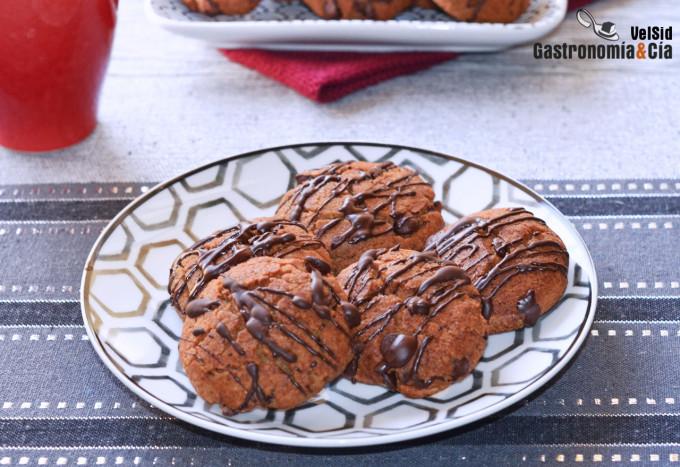Galletas de avellana con chocolate