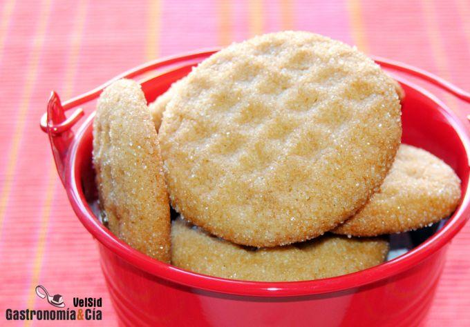 Galletas con crema de cacahuete