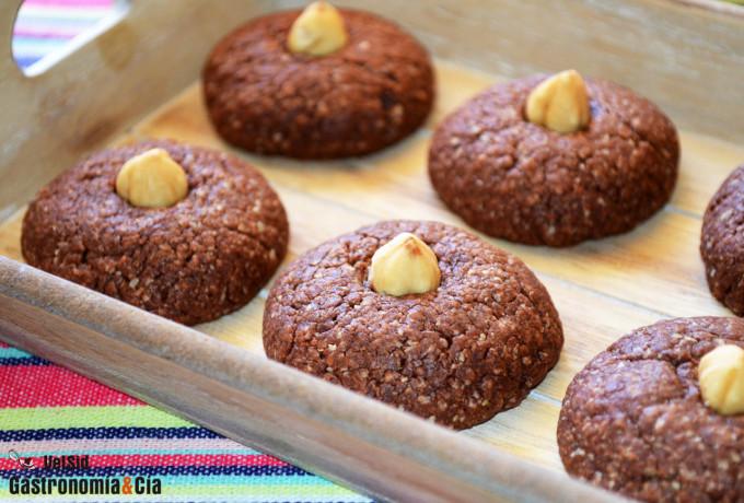 Receta de galletas de avena y Nutella