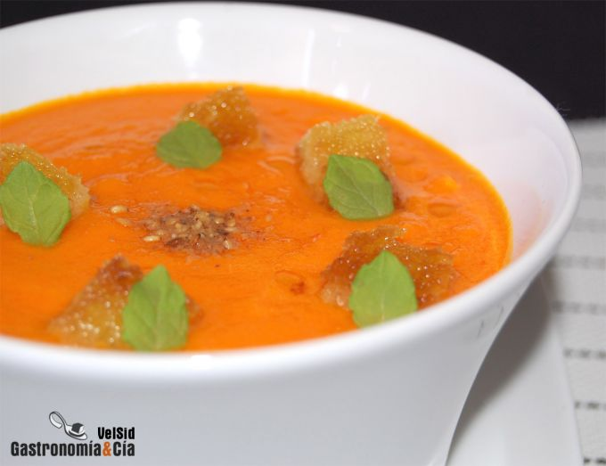 Gazpacho de zanahoria al jengibre
