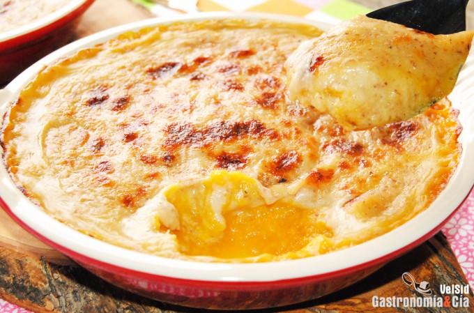 Gratén de calabaza y parmesano