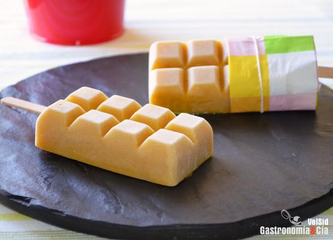 Helado de mango y plátano