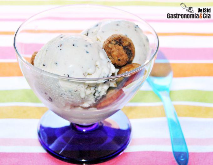 Receta de helado de stracciatella