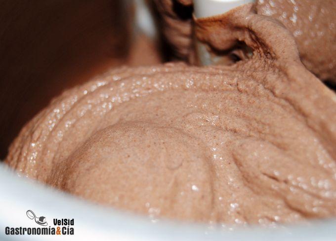 Helado de yogur de chocolate