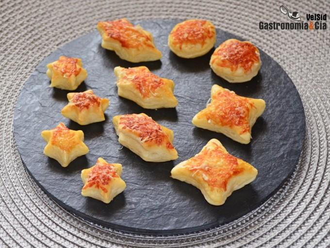Hojaldritos de parmesano para sopas y cremas