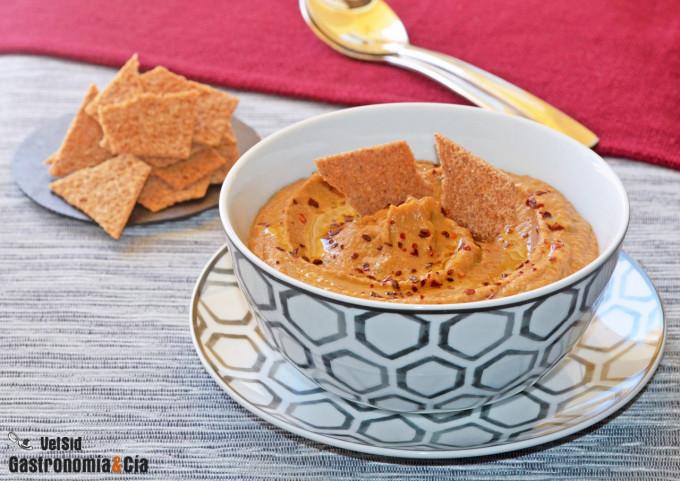 Hummus de garbanzos y berenjenas