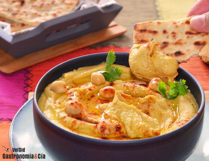 Hummus de garbanzos con calabaza